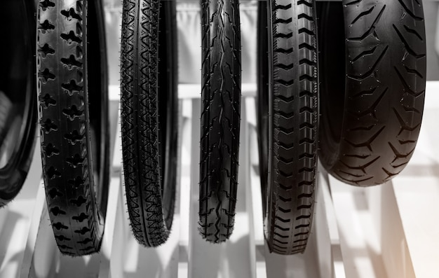 Motorcycle tyres are the outer part of wheels.