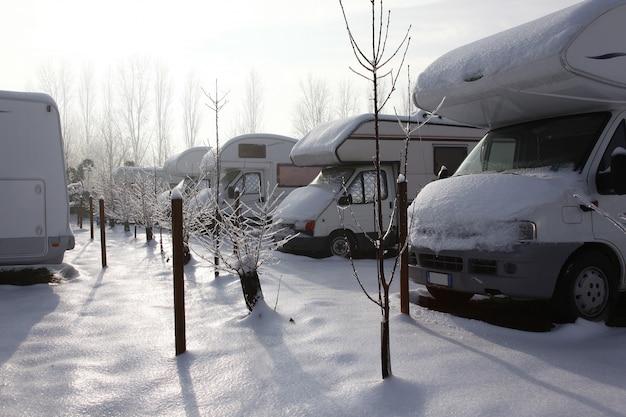 Motorhome at winter
