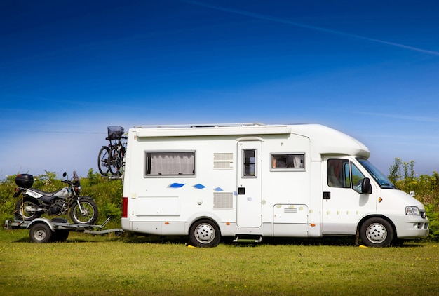 Motorhome with motorbike