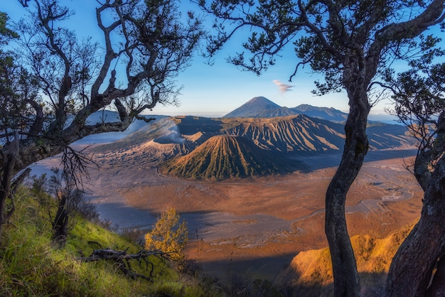 Mount bromo, is an active volcano and part of the tengger massif, in east java, indonesia.