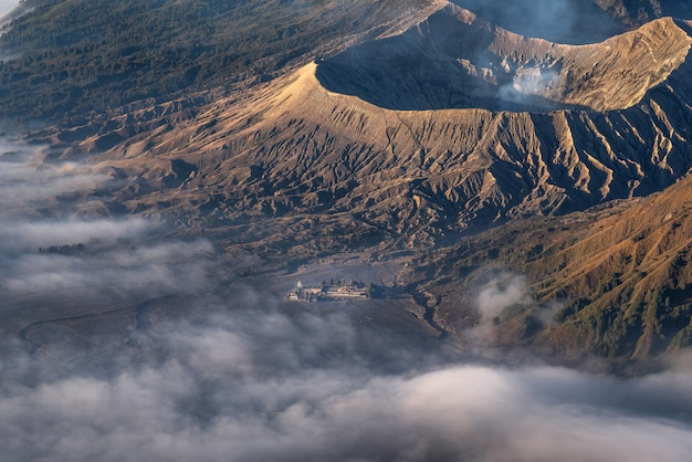 Mount bromo, is an active volcano and part of the tengger massif, in east java, indonesia. Premium Photo