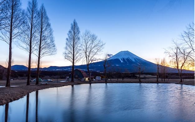 Mount fuji fujisan sunrise