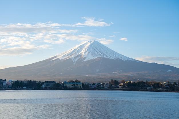 Mount fuji the highest mountain in japan.