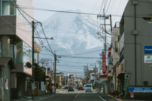 Гора фудзи в городе кавагутико, япония
