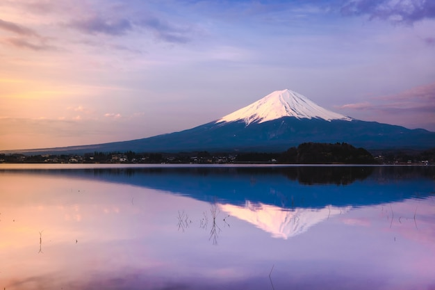 The mount fuji in japan