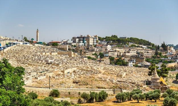 Еврейское кладбище на масличной горе - иерусалим, израиль