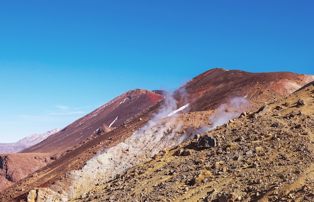 Mount taranaki / mount egmont in egmont national park, north island, new zealand. beautiful natural landscapes