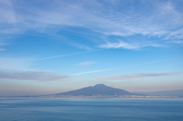 Mount vesuvius on splendid colorful