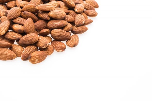 Mountain almonds in a white background Free Photo