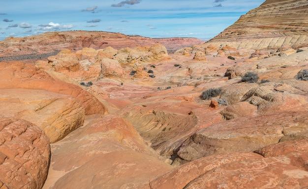 波の周りの山、地球のジュラ紀の時代、アリゾナ
