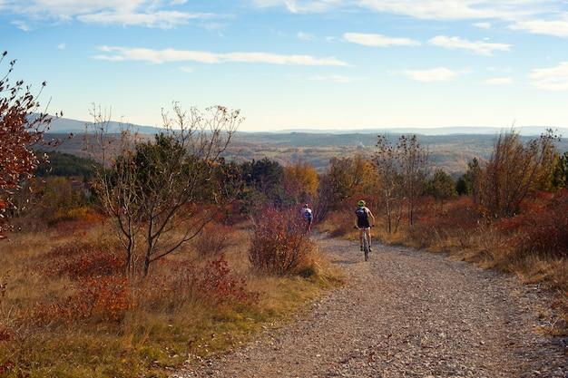 Mountain bike cyclist