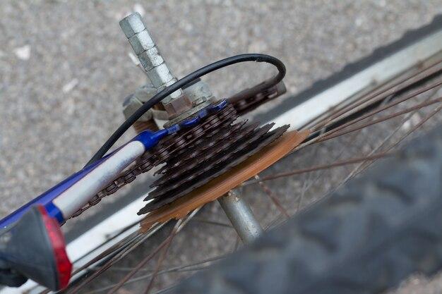 The mountain bike gears cassette
