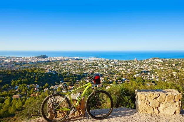 Mountain bike mtb denia at montgo track spain