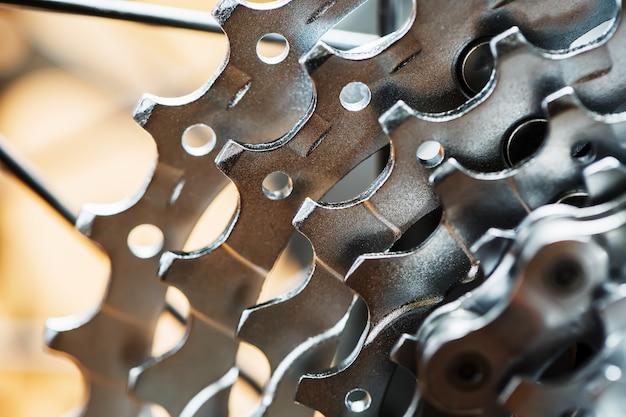 Горный велосипед задняя кассета макрос.