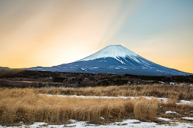 Mountain fuji sunrise