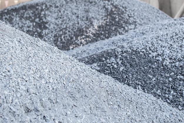 Mountain of granite gravel construction rock.