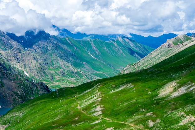 Mountain at kashmir great lakes in summer, india