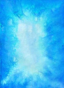マウンテンレイクブルー水彩テクスチャクリア紺碧の水