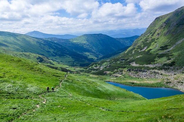Mountain lake brebeneskul