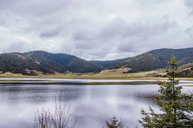 Mountain lake nature view