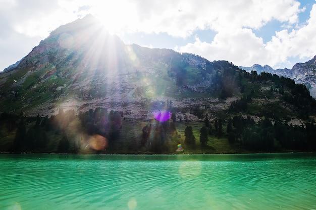 산 호수, 러시아, 시베리아