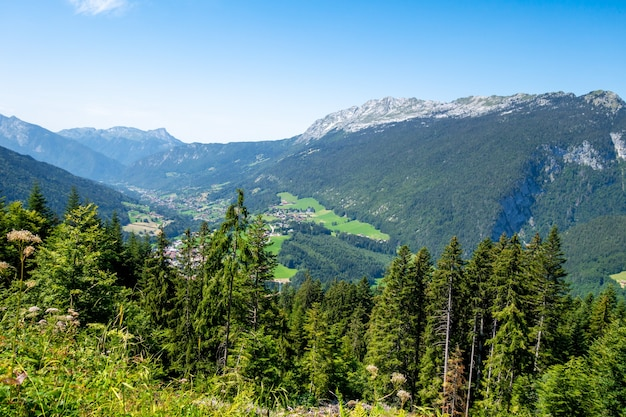 Mountain landscape in the grand-bornand, haute-savoie, france