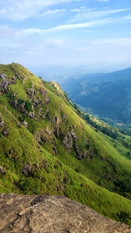 Mountain landscape, green slopes. beauty of mountains