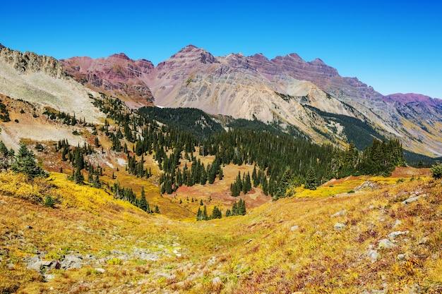 콜로라도 록키 산맥, 콜로라도, 미국에서 산 풍경.