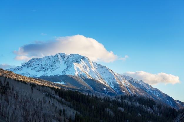 Горный пейзаж в скалистых горах колорадо, колорадо, сша.