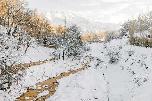 ウズベキスタンの山の風景