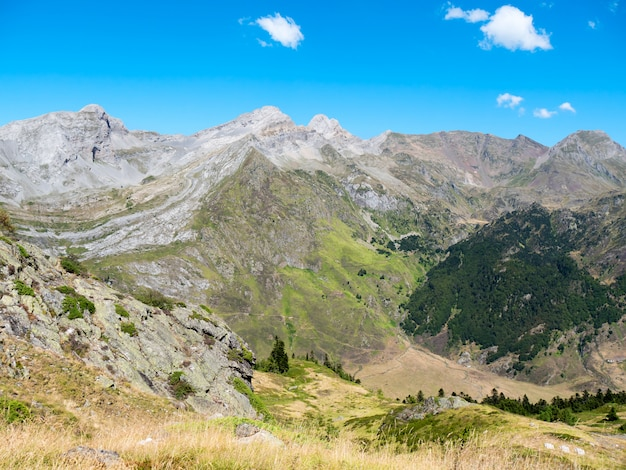 Mountain landscape in the pyrenees