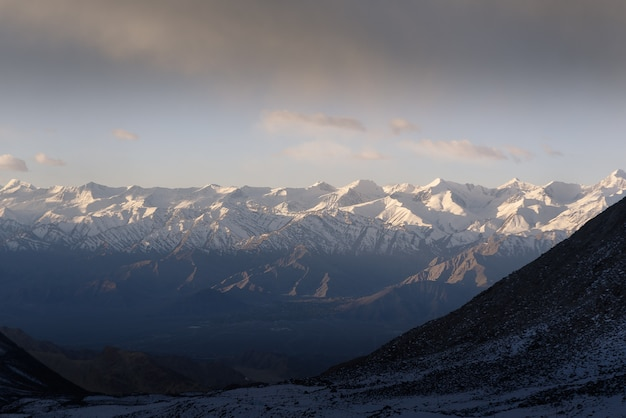 Mountain in leh ladakh with sunlight