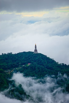 Mountain and mist in phu thap boek, phetchabun province