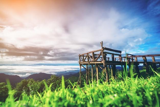 Mountain natural balcony