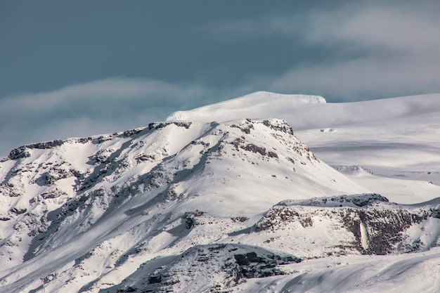 Una montagna vicino al vulcano eyjafjallajökull