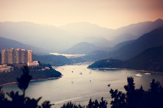 Mountain panorama hill scenic hong kong