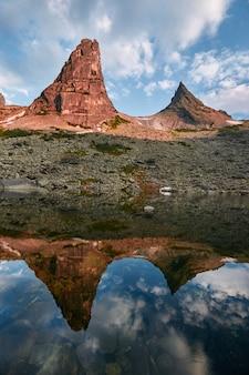 Mountain parabola, natural park ergaki, siberia