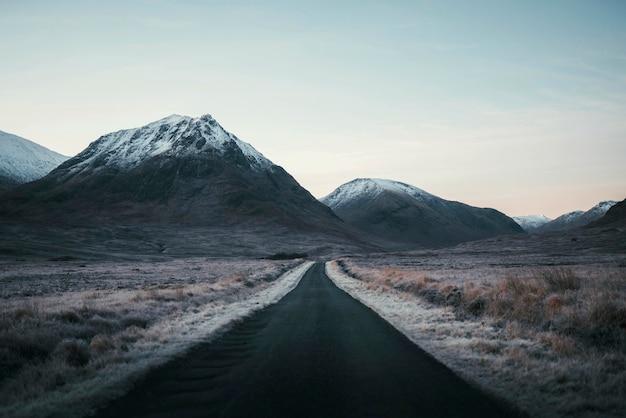 Mountain pass at glen coe in scotland