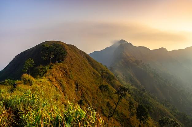 Mountain peak range landscape.