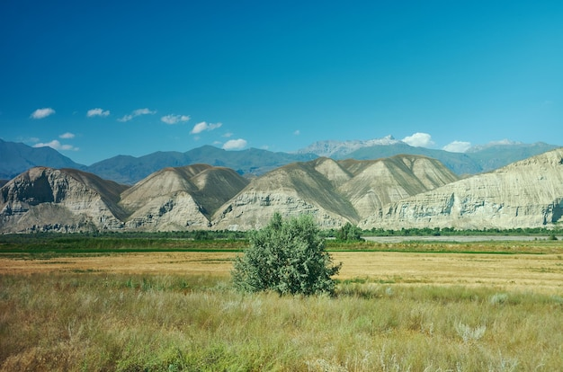 Mountain plateau district of jalal-abad region in western kyrgyzstan