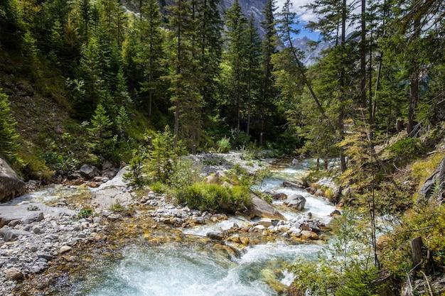 Vanoise 국립 공원 고산 계곡, savoie, 프랑스 알프스에서 산 강