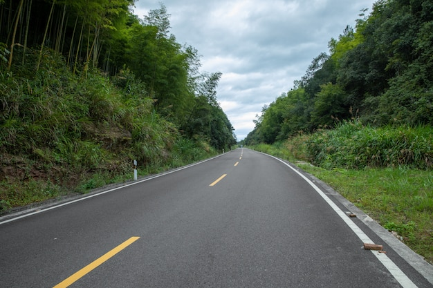 Mountain road. travel background. highway in mountains. transportation