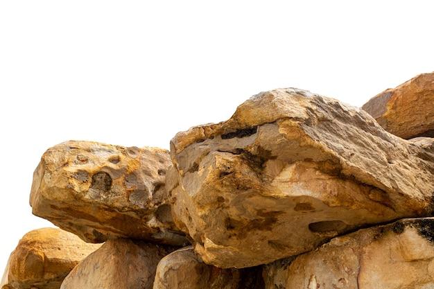 分離された山の岩。