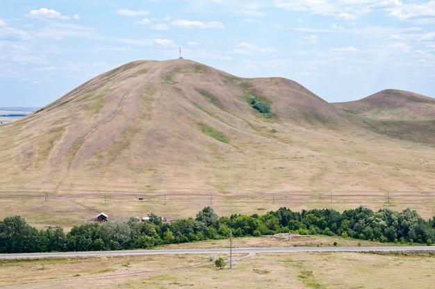 Mountain verblyuzhka. orenburg region, russia