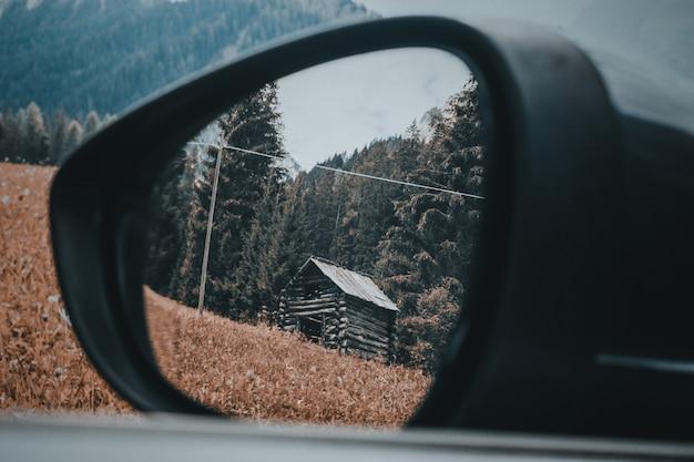 내 차에서 바라본 산