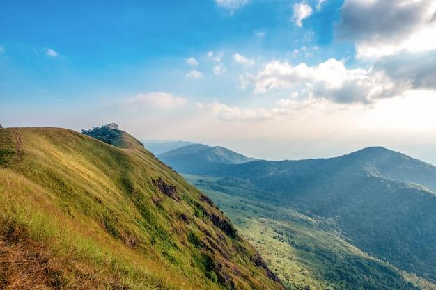 美しい自然と青空を背景にしたマウンテンビュー