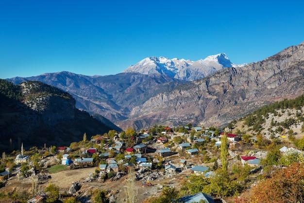 Mountain village in the aladaglar mountain, turkey