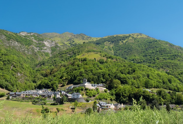 Mountain village, pyrenees france