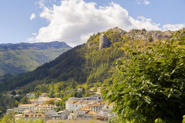 The mountain village.