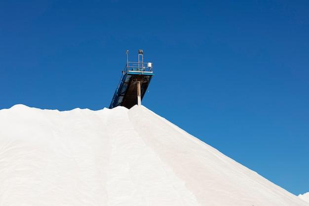 Mountain of white salt